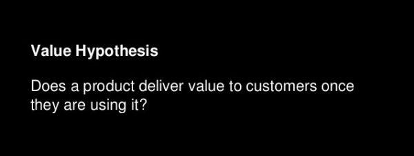 value hypothesis - Leap of Faith assumptions - Digicorp